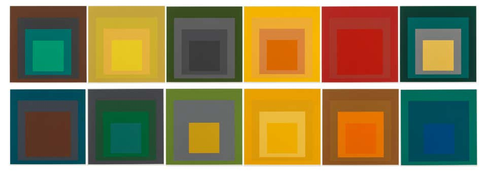 SP (Homage to the Square), 1967, by Josef Albers