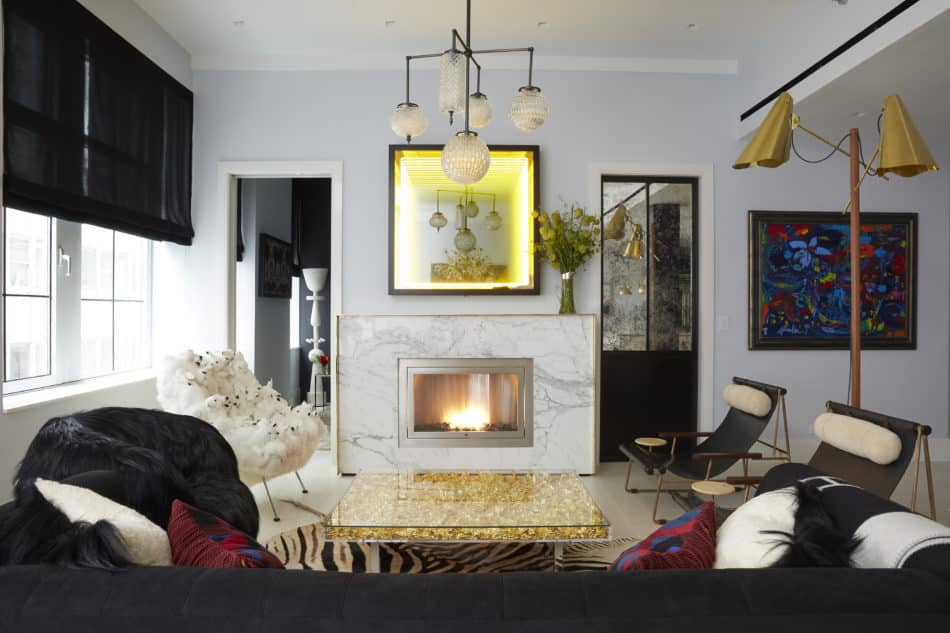 New York living room by Fawn Galli