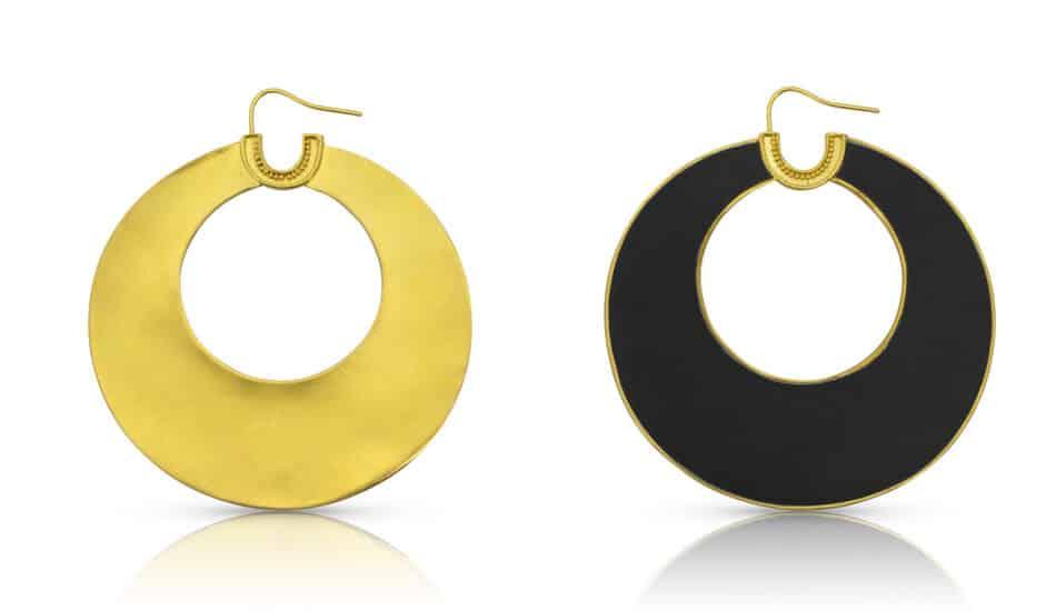 Loren Nicole gold earrings