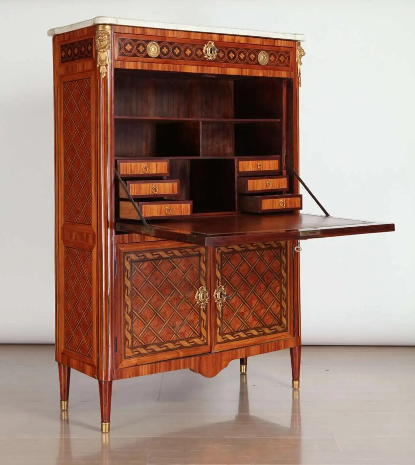 French ormolu-mounted marquetry secrétaire à abattant, 1775