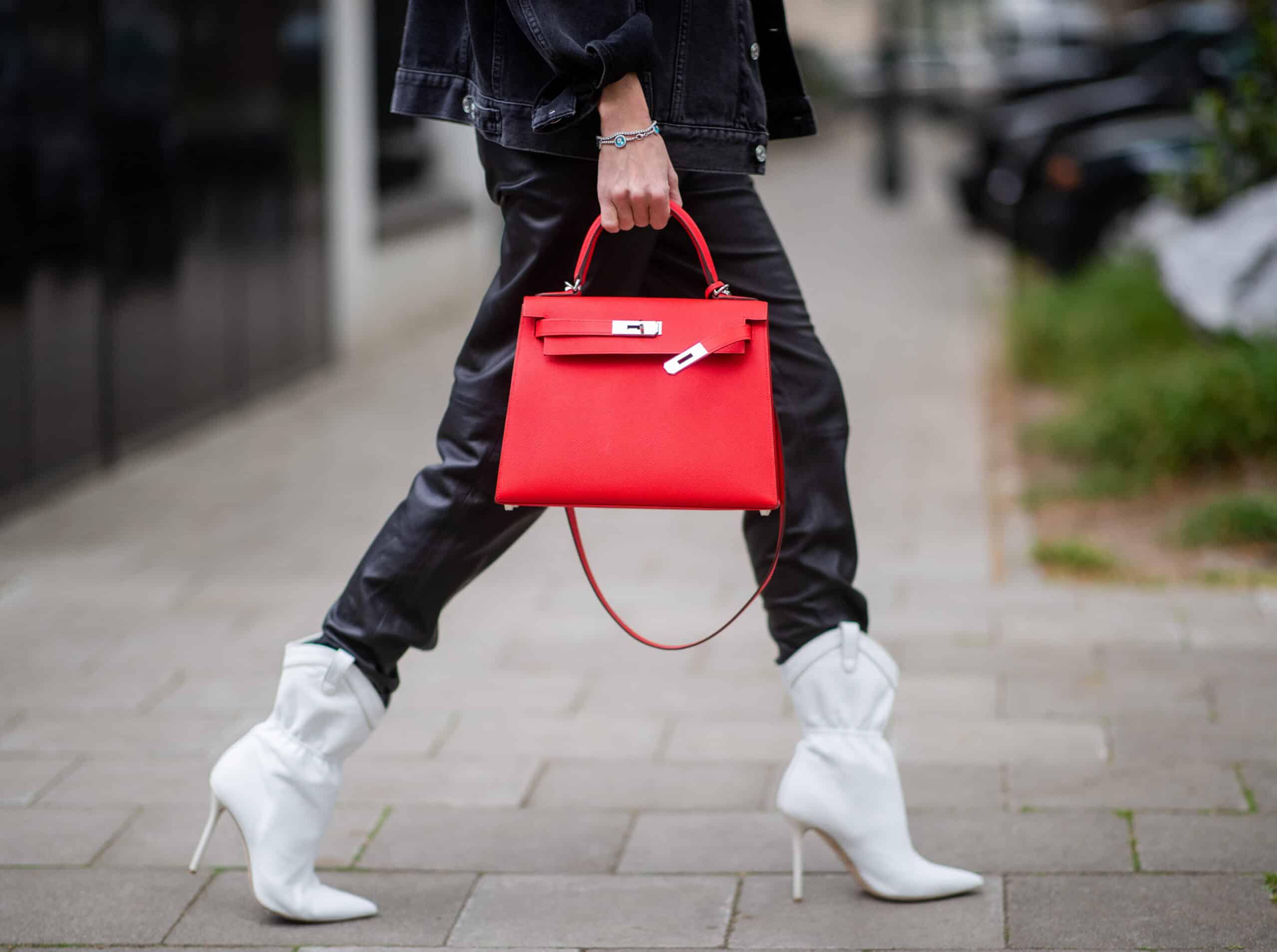 red Hermes Kelly bag
