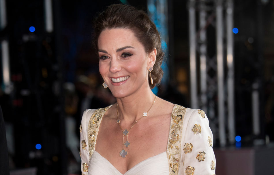 Kate Middleton wearing VCA Alhambra