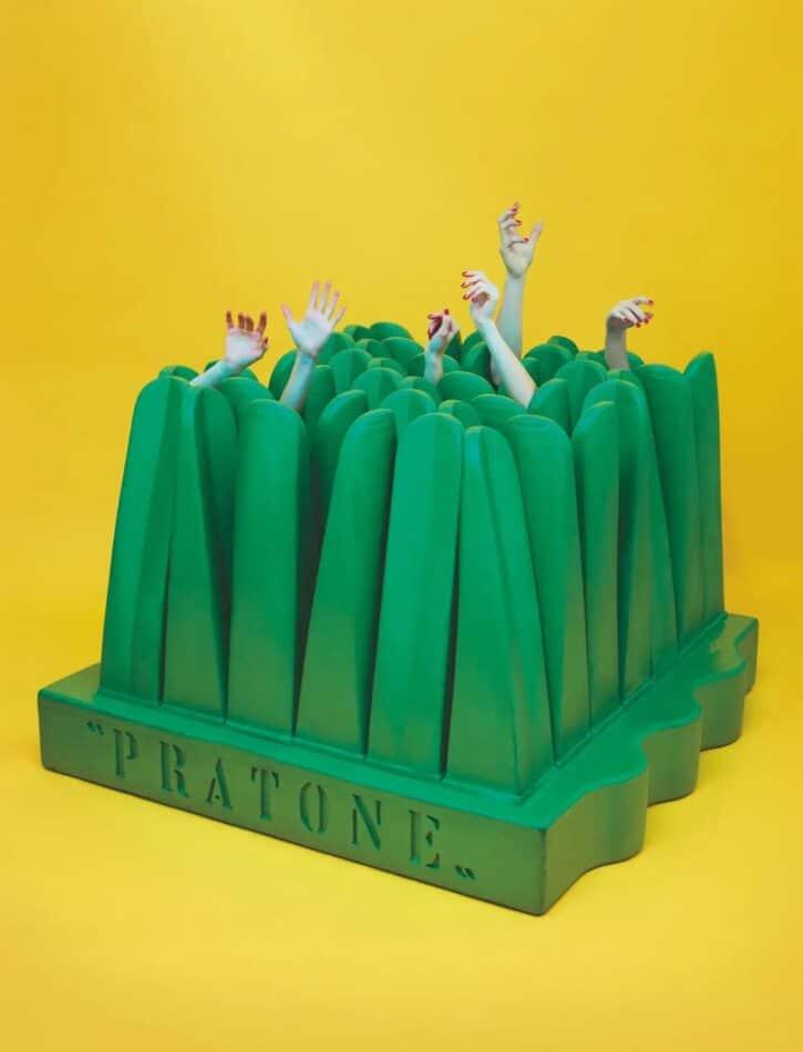 Green Pratone chaise