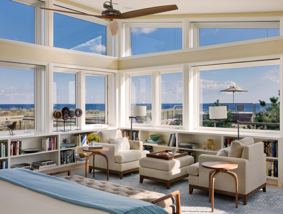 Beach House by Eve Robinson Associates in Quogue, NY