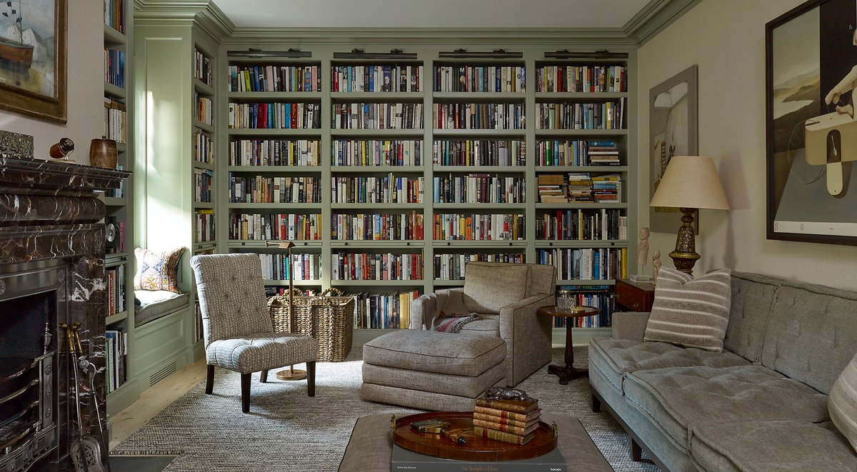 sag harbor home library by DKDA