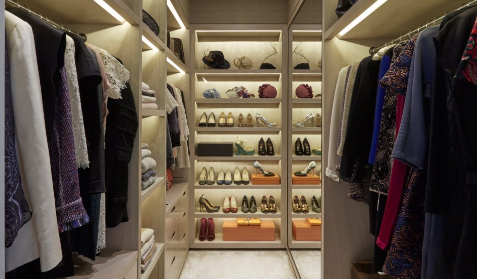 Helen Green Design closet in London