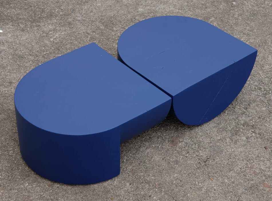 Two Henrick Ødegaard Para 01 Side Tables in Norway Spruce blue