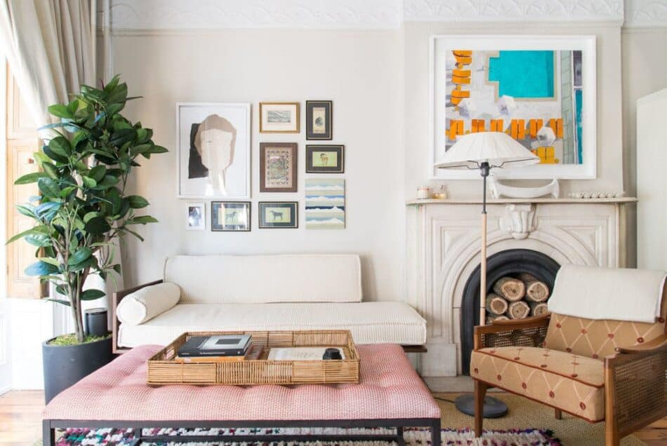 A Brooklyn, New York, living room designed by Louisa G. Roeder