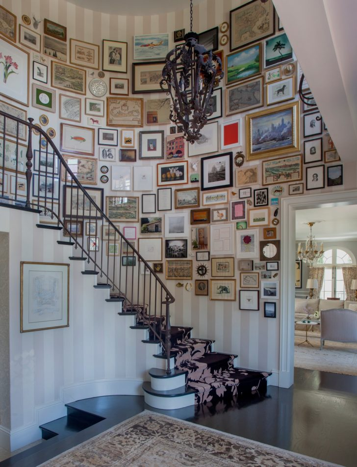 Louise Voyazis Interior Design stairwell in LA