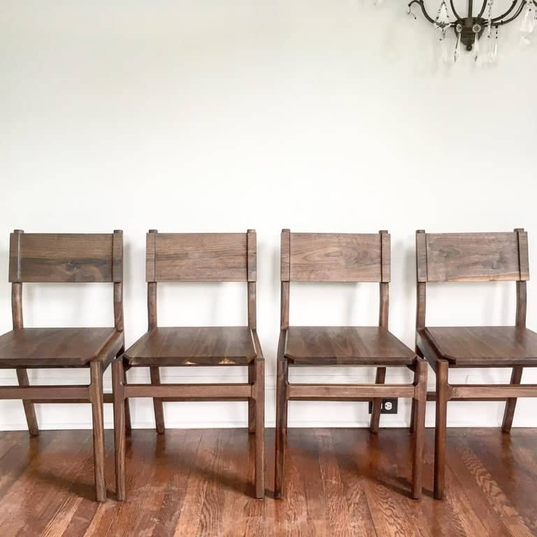 Black walnut Hewitt Wood dining chair