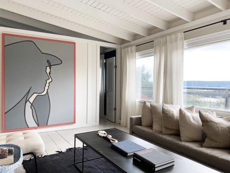 Melanie Raines-designed living room in Austin, TX