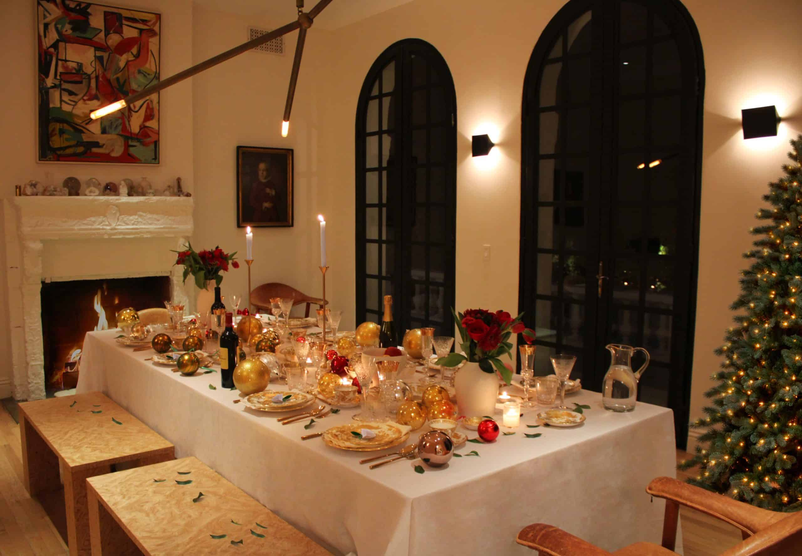 Brigette Romanek's holiday tablescape
