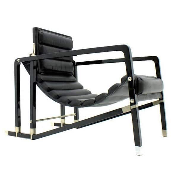 Gray's Transat lounge chair, produced by Ecart International in the 1980s. Offered by Inside-Room