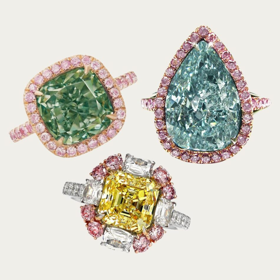 fancy-colored diamond engagement rings