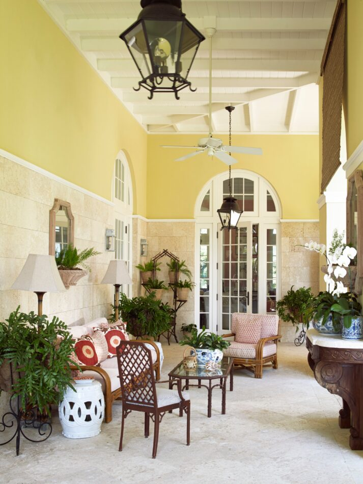 Amanda Lindroth patio in the Bahamas
