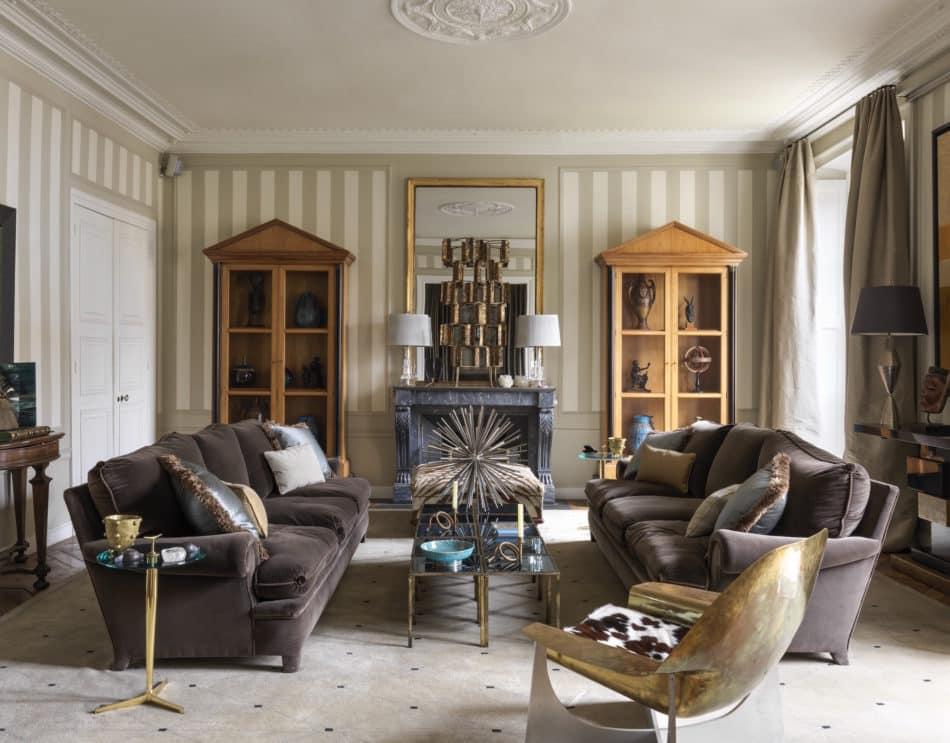 sitting room in Jamie Creel's Paris home