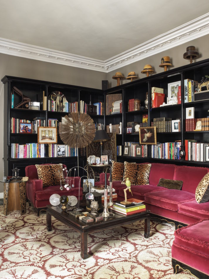 library in Jamie Creel's Paris home