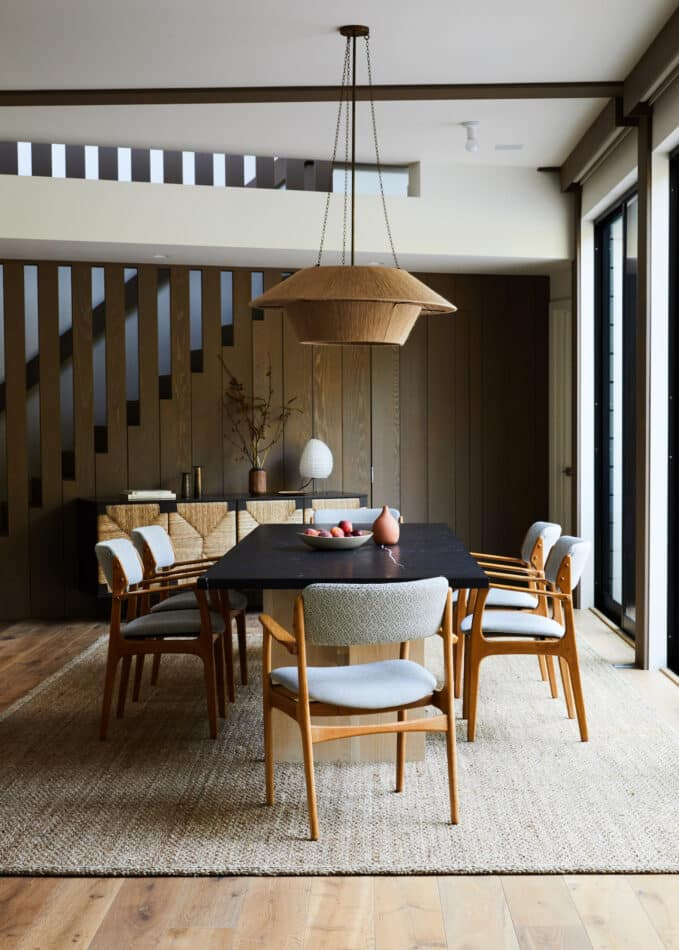 Jesse Parris-Lamb-designed dining room in the Hamptons
