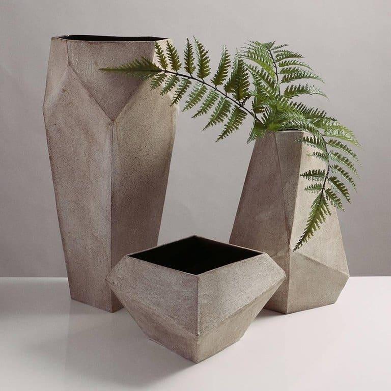 John Sheppard's Tall Modern Geometric Monument Vase