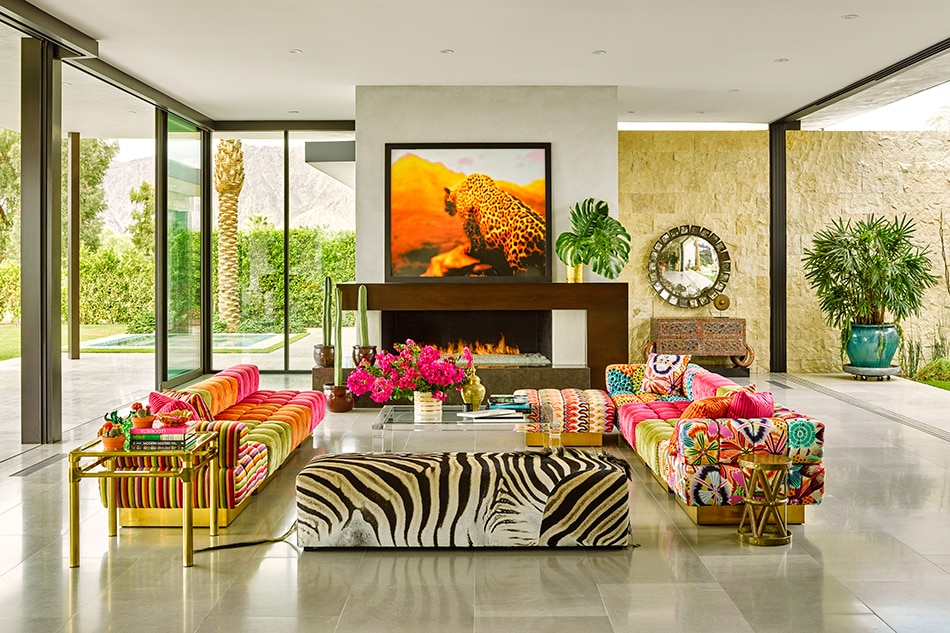 Palm Springs living room by Ken Fulk