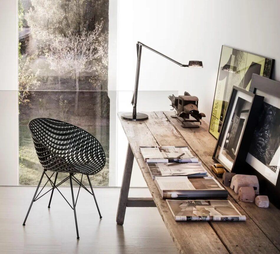 Kartell Smatrik Outdoor Chair in Black by Tokujin Yoshioka