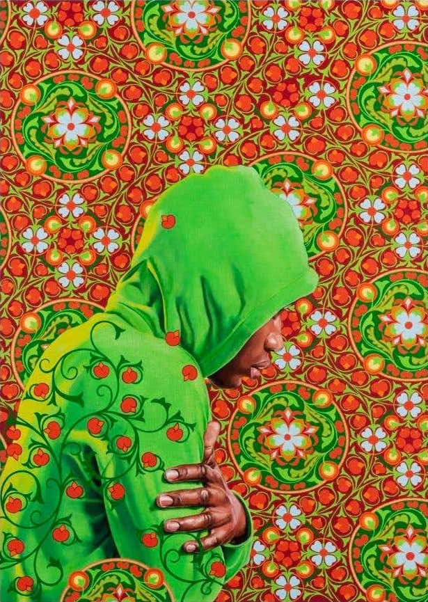 Head of a Young Girl Veiled, 2019, by Kehinde Wiley
