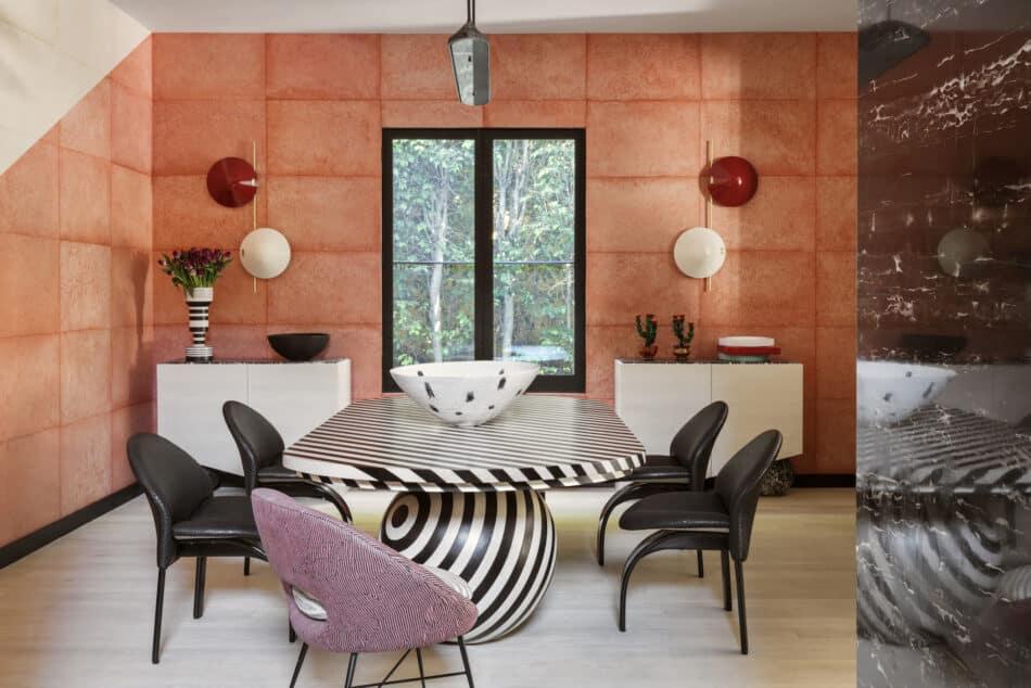 Kelly Wearstler dining room in West Hollywood