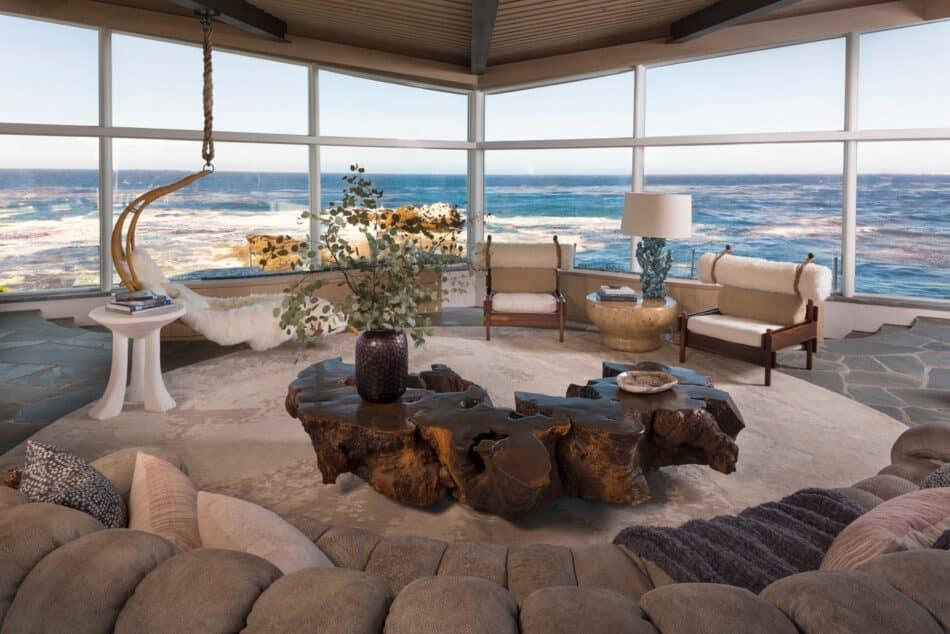 Living room in Carmel, CA by Jamie Bush