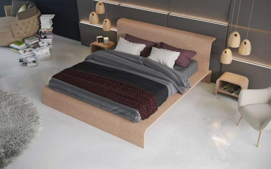 OTQ BISU Cork Bed Frame