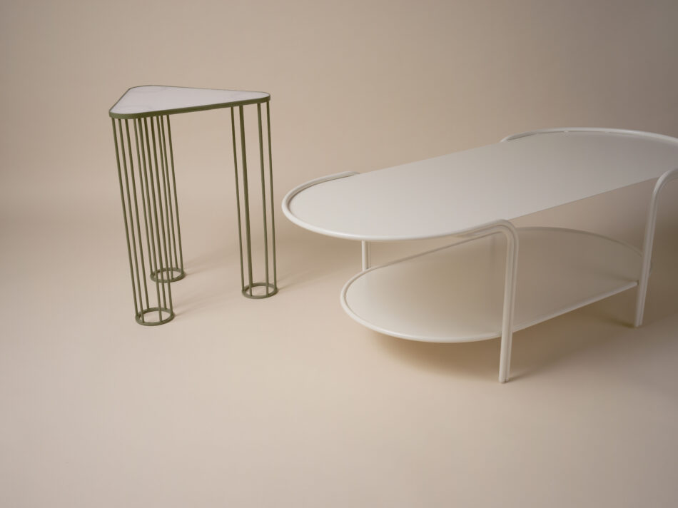 Laun Mulhy Side Table and Bancroft Coffee Table