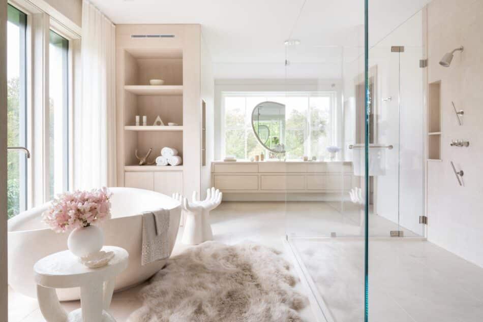 East End bathroom by Kelly Behun Studio