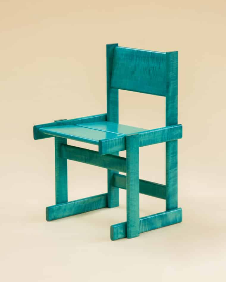 Marco Campardo Bullnose Chair in Teal