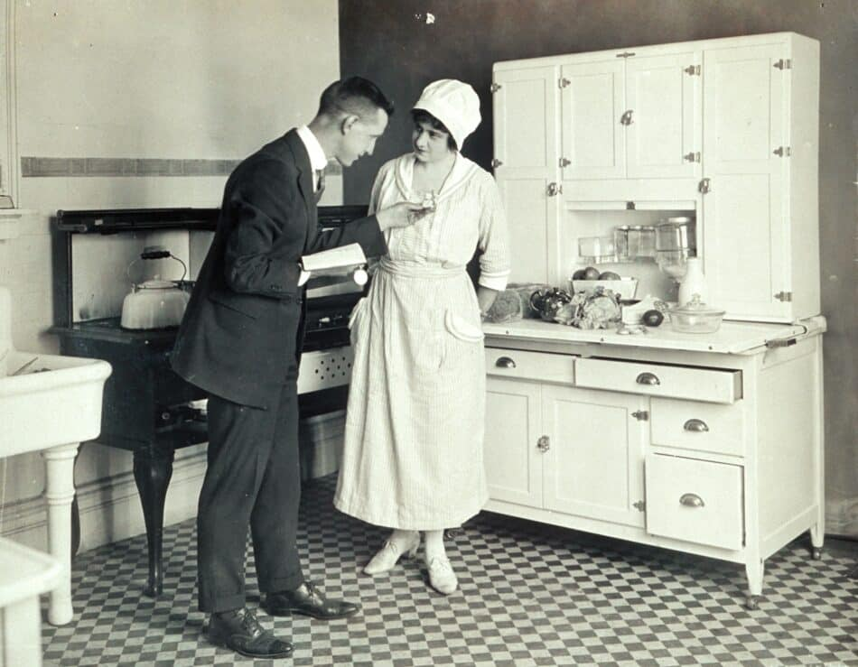 In the early 20th century, Christine Frederick sought to make the kitchen more efficient by conducting experiments applying theories of scientific management.