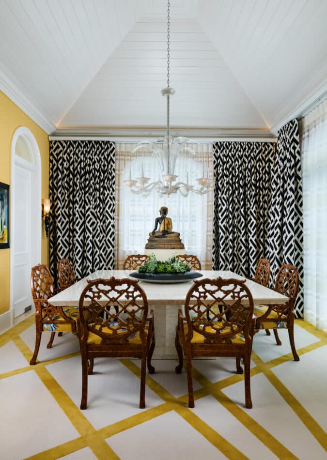 MMB Studio-designed dining room in Palm Beach, FL