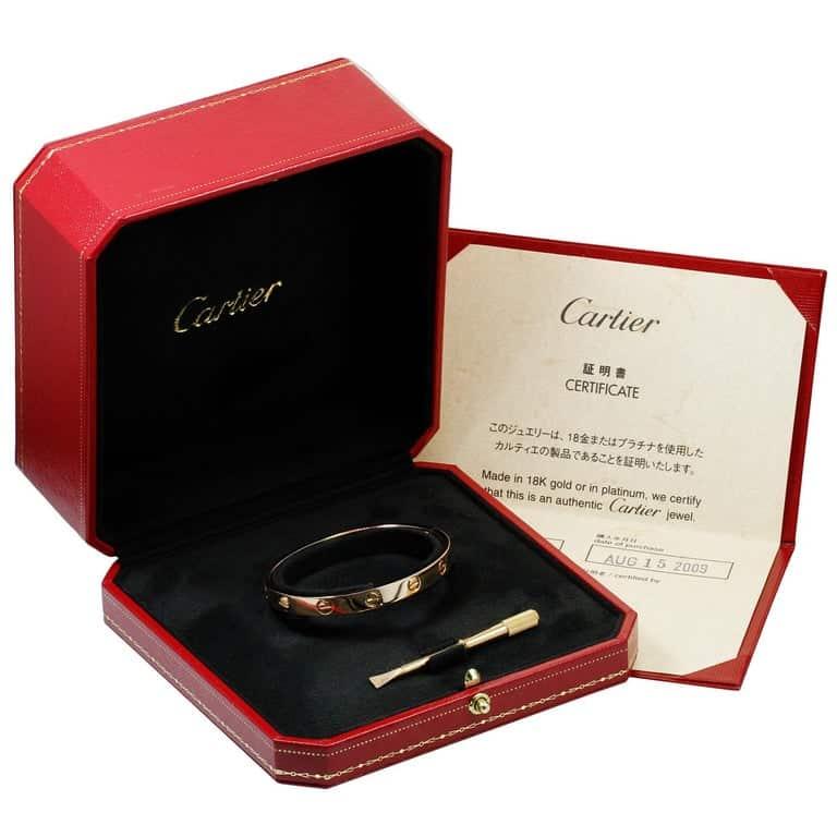 Cartier Love bracelet in box