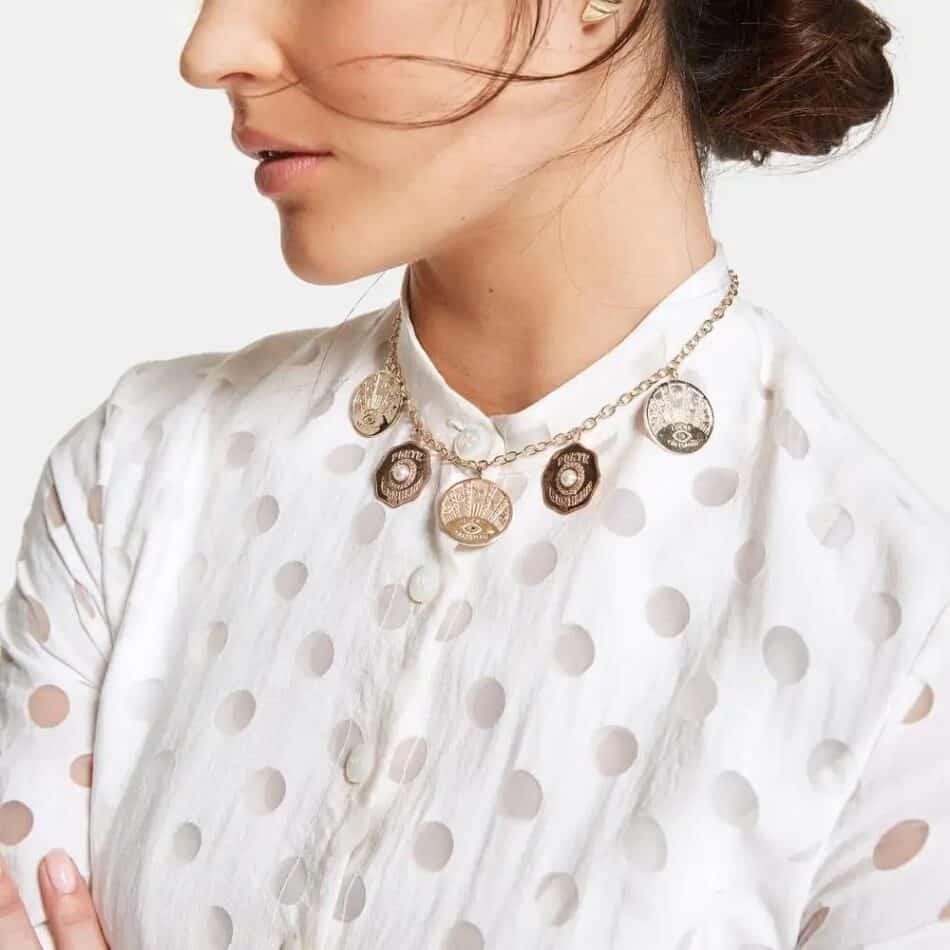 Marlo Laz La Trouvaille charm necklace, 2020