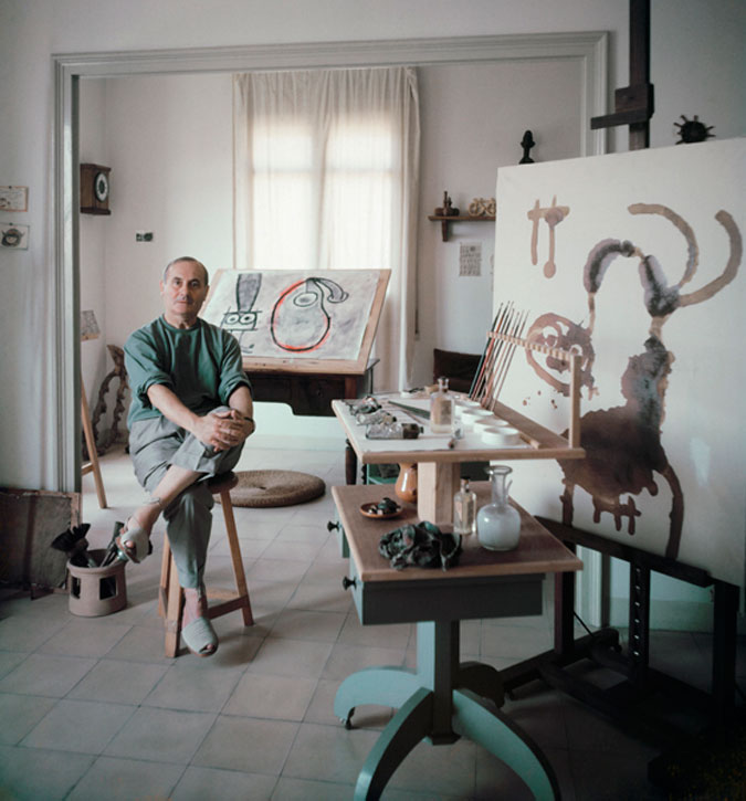 Joan Mirò in His Studio, 1955, by Mark Shaw