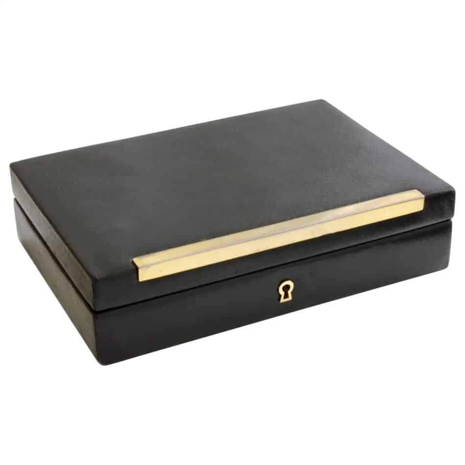 Vintage Gucci Black Leather Jewelry Case