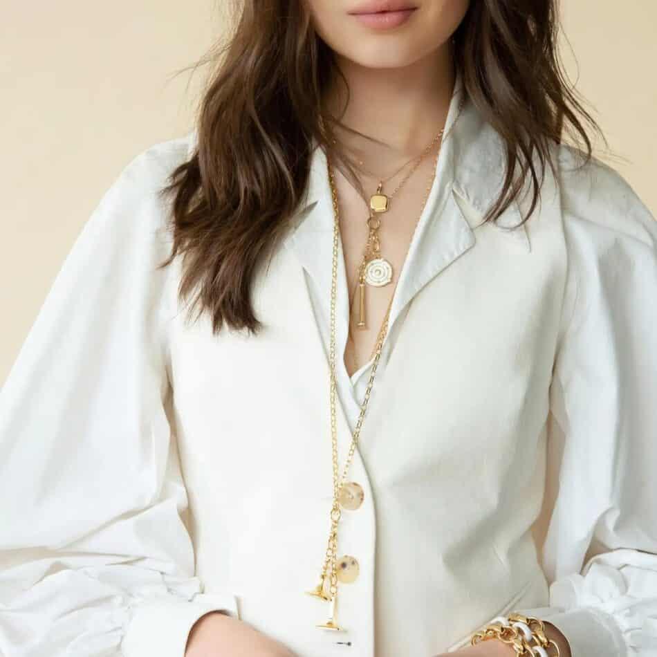 Monica Rich Kosann Design Your Own long and short charm necklaces, 2018