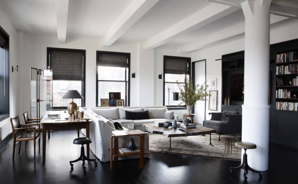 living room in Tribeca by Monique Gibson Interior Design