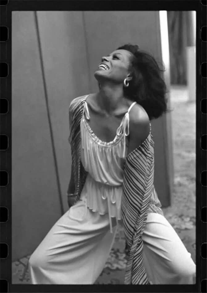 Diana Ross, London, 1976, by Steve Joester