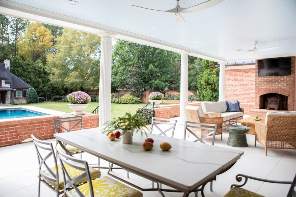 Outdoor dining room by Linda Burkhardt in Charlotte, NC