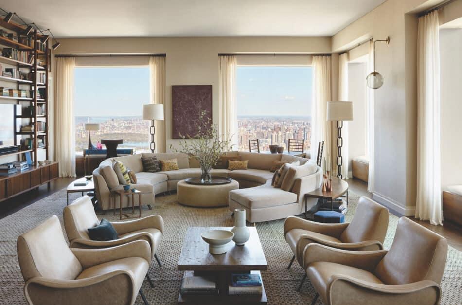 Kerry Joyce-designed living room in New York City