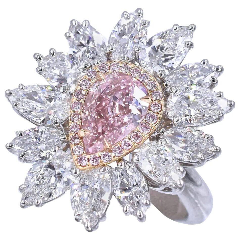 Nally Jewels pink-diamond ring, 2015