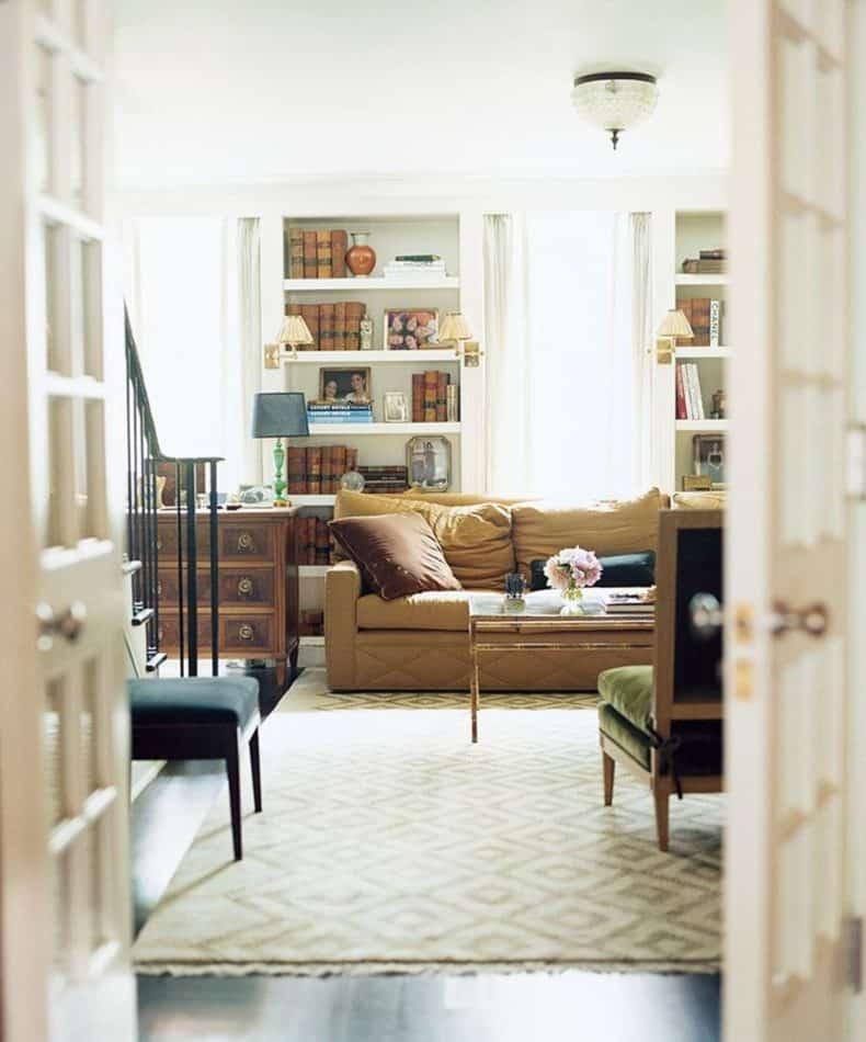 Nate Berkus Associates' reading room in Greenwich Village