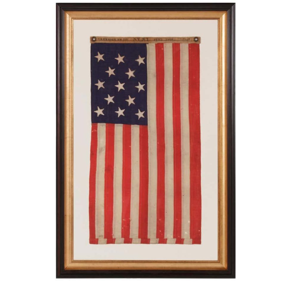 13-Star  American Flag, Navy Small Boat Ensign, 1906