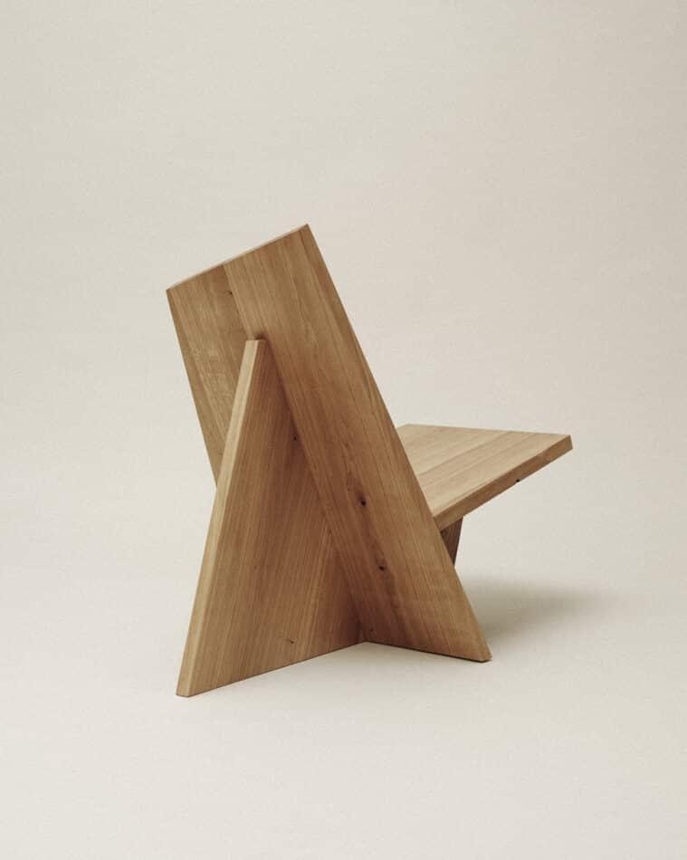 Nazara Lázaro's Crooked lounge chair.