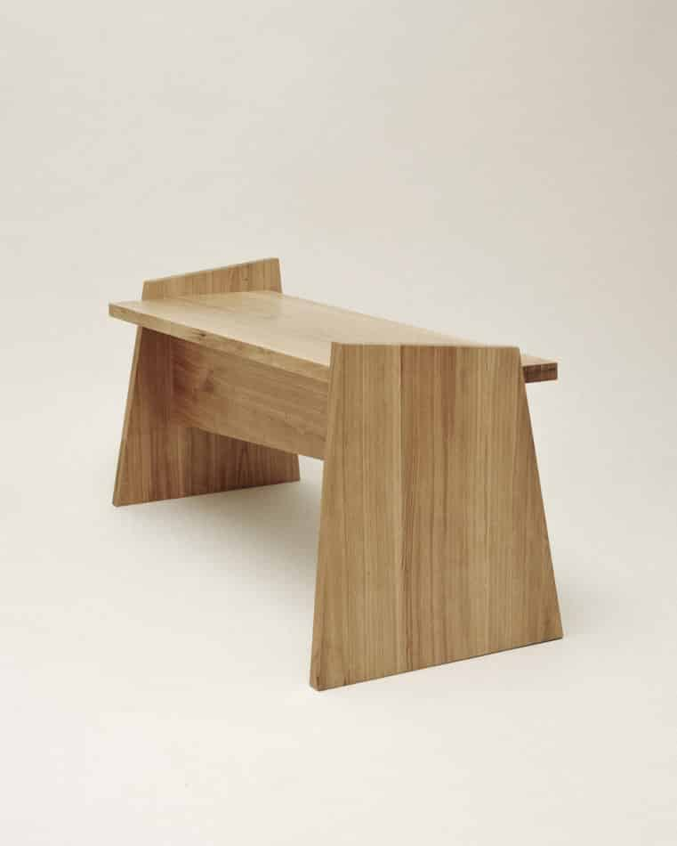 Nazara Lázaro's Crooked bench.