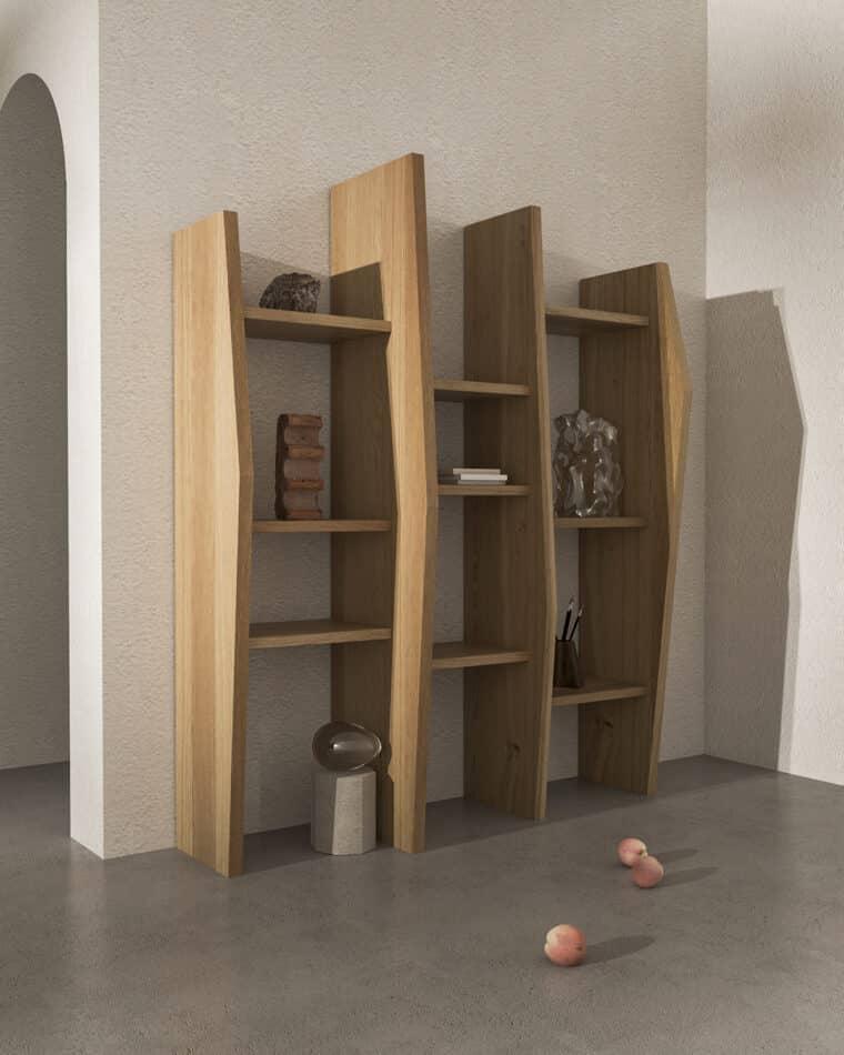 Nazara Lázaro's Crooked shelf.