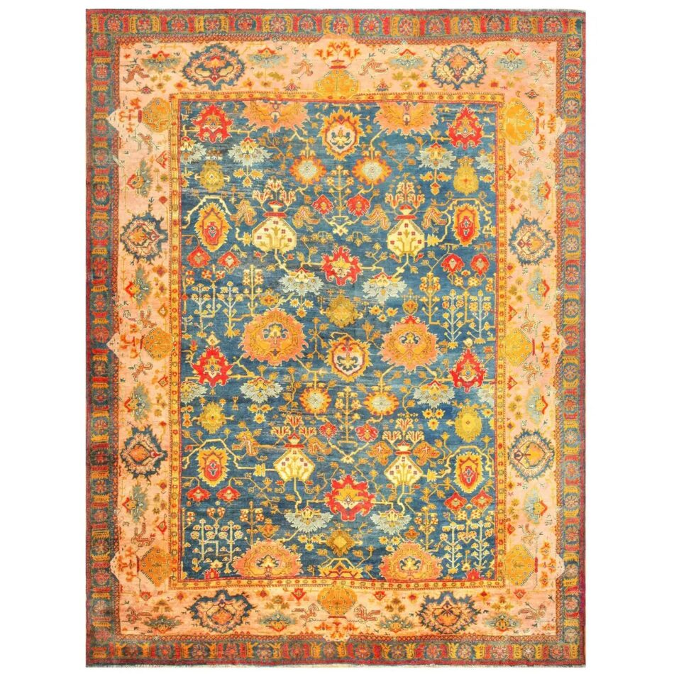 A late-19th-century Oushak rug